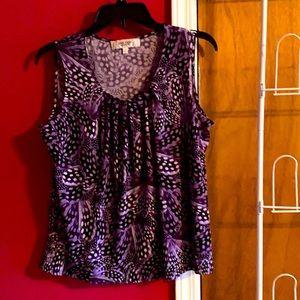 Ladies PM a purple sleeveless blouse